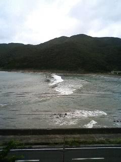 台風接近中。